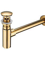 cheap -Faucet accessory - Superior Quality - Contemporary Brass Pop-up Water Drain With Overflow - Finish - Electroplated