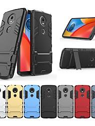 Недорогие -Кейс для Назначение Motorola Moto E5 Plus Защита от удара / со стендом Кейс на заднюю панель Однотонный / броня Твердый ПК