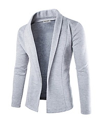 cheap -Men's Solid Colored Long Sleeve Cardigan Sweater Jumper, V Neck Black / Light gray / Dark Gray M / L / XL