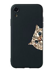cheap -Case For Apple iPhone XS / iPhone XR / iPhone XS Max Pattern Back Cover Cat Soft TPU