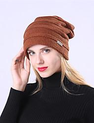 Недорогие -Универсальные Активный Классический Симпатичные Стиль Широкополая шляпа Шерсть Акрил,Однотонный Осень Зима Темно-серый Темно синий Светло-серый