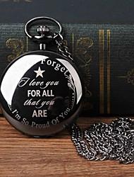 cheap -Men's Pocket Watch Quartz Black Casual Watch Large Dial Analog Fashion Word Watch - Black