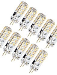 abordables -10pcs 1.5 W LED à Double Broches 130 lm G4 T 24 Perles LED SMD 3014 Adorable Blanc Chaud Blanc Froid 12 V