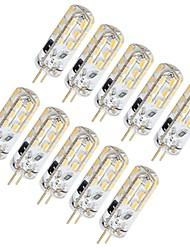cheap -10pcs 1.5 W LED Bi-pin Lights 130 lm G4 T 24 LED Beads SMD 3014 Lovely Warm White Cold White 12 V