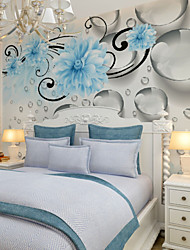 cheap -Wallpaper Mural Wall Cloth Canvas Wall Covering - Adhesive required Floral Art Deco 3D