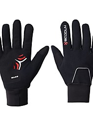 cheap -BOODUN Winter Bike Gloves / Cycling Gloves Mountain Bike Gloves Mountain Bike MTB Thermal / Warm Touch Screen Reflective Windproof Full Finger Gloves Touch Screen Gloves Sports Gloves Lycra Black for