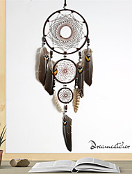 cheap -Handmade Dream Catchers Large Polycyclic  Net With Feathers Home Décor