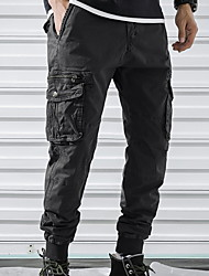 cheap -Men's Basic Chinos Pants - Solid Colored Black Army Green Gray 30 32 34