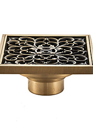 cheap -Drain Cool Country / Antique Brass 1pc - Hotel bath Floor Mounted Floor Drain