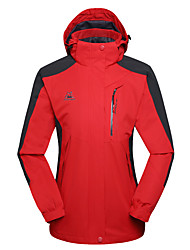 cheap -Women's Hiking Jacket Hiking Windbreaker Winter Outdoor Thermal / Warm Waterproof Windproof Breathable Hoodie Top Single Slider Camping / Hiking Fishing Climbing Purple / Fuchsia / Red / Blue