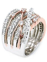 cheap -Women's Engagement Ring Cubic Zirconia 1pc Rose Gold White Gold Plated Alloy irregular Luxury Wedding Engagement Jewelry Solitaire