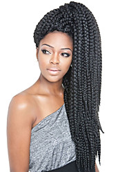 "cheap -Braiding Hair Straight Jumbo Synthetic Hair 3 Pieces Hair Braids Natural Color 24 inch 24"" Heat Resistant Synthetic 100% kanekalon hair Dailywear African Braids"