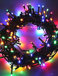cheap -10m String Lights 50 LEDs 1Set Mounting Bracket 1 set Warm White / Cold White / RGB Waterproof / Solar / Party Solar Powered