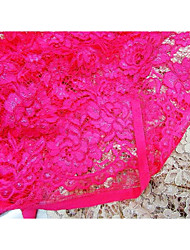 cheap -Lace Solid Inelastic 150 cm width fabric for Apparel and Fashion sold by the Meter