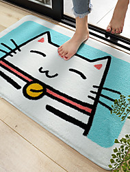 cheap -1pc Casual / Cartoon Bath Mats / Bath Rugs Other Leather Type Geometric / Novelty / Animal Cute / Non-Slip / Thickening