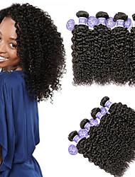 cheap -4 Bundles Indian Hair Kinky Curly Unprocessed Human Hair 100% Remy Hair Weave Bundles Headpiece Natural Color Hair Weaves / Hair Bulk Bundle Hair 8-28 inch Natural Human Hair Weaves Safety