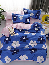 cheap -Duvet Cover Sets Floral / Contemporary Polyster Printed 4 PieceBedding Sets