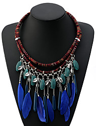 cheap -Women's Pendant Necklace Necklace Acrylic Chrome Blue Peacock Green 56 cm Necklace Jewelry 1pc For Daily School Street Holiday Festival