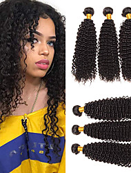 cheap -6 Bundles Malaysian Hair Kinky Curly 100% Remy Hair Weave Bundles Natural Color Hair Weaves / Hair Bulk Bundle Hair One Pack Solution 8-28 inch Natural Human Hair Weaves Odor Free Valentine Party