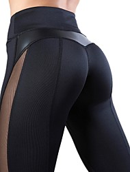 abordables -Femme Taille haute Pantalon de yoga Mosaïque Cœur Noir Rouge Bordeaux Bleu Roi Grise Maille Cuir Course / Running Fitness Entraînement de gym Collants Leggings Sport Tenues de Sport Séchage rapide