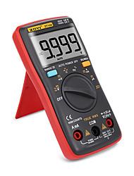 Недорогие -Цифровой мультиметр, размер ладони true-rms 9999 отсчетов, квадратная волна, подсветка, переменный ток, напряжение, амперметр, ток, ом / автоматический / ручной zt109