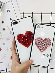cheap -Case For Apple iPhone XS / iPhone XR / iPhone XS Max Rhinestone Back Cover Heart Hard TPU