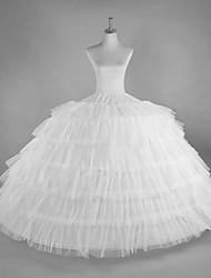 cheap -Bride Classic Lolita 1950s Dress Petticoat Hoop Skirt Crinoline Women's Girls' Spandex Costume White Vintage Cosplay Party Performance Maxi Princess