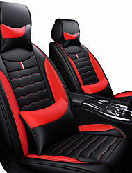 cheap -Car Seat Covers Headrest&Waist Cushion Kits PU Leather Artificial Leather universal Black / Red / Black / White / Black / Blue