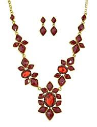 cheap -Women's Drop Earrings Collar Necklace Geometrical Drop Flower Stylish Sweet Earrings Jewelry Red / Blue For Daily 1 set