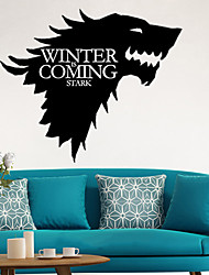 cheap -Game of Thrones 1 pc Hose Stark Totem Sticker for Universal Anti-Radiation Animal / Cartoon Pattern PVC Universal
