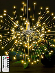 cheap -0.3m Christmas String Lights 150 LEDs Warm White RGB Fireworks Light Creative Party Batteries Powered 6pcs