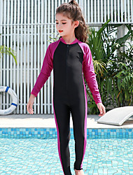 cheap -JIAAO Boys' Girls' Rash Guard Dive Skin Suit Diving Suit Thermal / Warm Full Body Front Zip - Swimming Diving Patchwork Summer / High Elasticity / Kid's