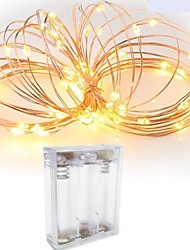 cheap -2m String Lights 20 LEDs SMD 0603 Warm White / White / Red Waterproof / Creative / Cuttable 5 V 1pc