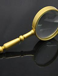 abordables -Loupe en or avec mannequin 6x 75 mm avec métal antique de grande qualité
