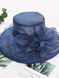 cheap -Tulle / Organza Hats / Headwear with Faux Pearl / Flower / Trim 1 Piece Wedding / Outdoor Headpiece