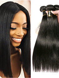 cheap -3 Bundles Malaysian Hair Straight 100% Remy Hair Weave Bundles Natural Color Hair Weaves / Hair Bulk Bundle Hair Human Hair Extensions 8-28 inch Natural Color Human Hair Weaves Smooth Best Quality