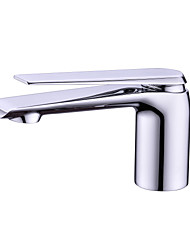 cheap -Bathroom Sink Faucet - Widespread Chrome / Electroplated Free Standing Single Handle One HoleBath Taps