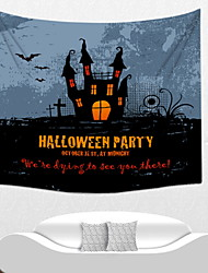 cheap -Halloween Wall Decor Polyester Modern Wall Art, Wall Tapestries Decoration