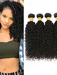 cheap -4 Bundles Malaysian Hair Kinky Curly 100% Remy Hair Weave Bundles 200 g Natural Color Hair Weaves / Hair Bulk Bundle Hair Human Hair Extensions 8-28inch Natural Color Human Hair Weaves Newborn Simple