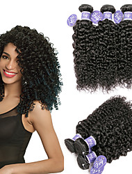 cheap -6 Bundles Malaysian Hair Curly Kinky Curly 100% Remy Hair Weave Bundles 300 g Headpiece Natural Color Hair Weaves / Hair Bulk One Pack Solution 8-28 inch Natural Color Human Hair Weaves Safety