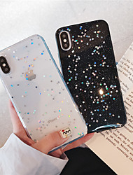 cheap -Case For Apple iPhone XR / iPhone XS Max Glitter Shine / Pattern Back Cover Glitter Shine Soft TPU for iPhone X /Xs / 6 /6 Plus / 6S /6S Plus / 7 / 7 Plus / 8 / 8 Plus