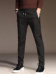 abordables -Homme Basique Grandes Tailles Costume Pantalon - Couleur Pleine Bleu Noir Gris 34 36 38