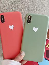 Недорогие -Кейс для Назначение Apple iPhone XS / iPhone XR / iPhone XS Max С узором Кейс на заднюю панель С сердцем Мягкий ТПУ