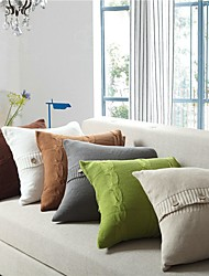 cheap -1 pcs Cotton Pillow Cover, Solid Colored Classic Leisure Throw Pillow