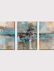 cheap -Print Rolled Canvas Prints - Abstract Arts Classic Three Panels Art Prints