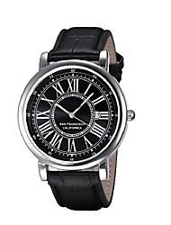 Недорогие -Муж. Спортивные часы Кварцевый Кожа Черный 30 m Секундомер Крупный циферблат Аналоговый Классика Мода - Черный Два года Срок службы батареи