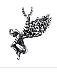 cheap -Men's Pendant Necklace Classic Angel Fashion Stainless Steel Gold Silver 50 cm Necklace Jewelry 1pc For Daily Work