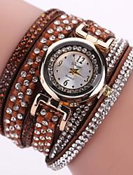 Недорогие -Жен. Часы-браслет Цирконий На каждый день Бабочка Черный Белый Синий Искусственная кожа Китайский Кварцевый Лиловый Персиковый Светло-коричневый Новый дизайн Повседневные часы Имитация Алмазный 1 ед.