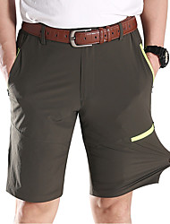 cheap -Men's Hiking Shorts Outdoor Breathable Quick Dry Ventilation Stretchy Shorts Bottoms Fishing Climbing Camping / Hiking / Caving Army Green Grey Khaki 4XL M L XL XXL / Wear Resistance