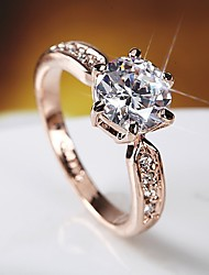 cheap -Band Ring Rose Gold Silver Platinum Plated Rose Gold Plated Imitation Diamond Stylish Simple Elegant 1pc Adjustable / Women's / Knuckle Ring / Open Ring / Adjustable Ring / Wedding
